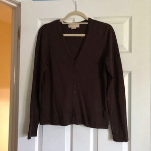 MICHAEL Michael Kors Silk Cardigan and Cami Sz.Lg